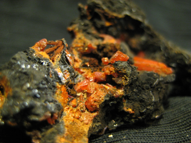 Mineral Auction - Crocoite, Adelain mine, Tasmania - www.mindat.